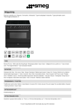 Product informatie SMEG fornuis inductie antraciet BG91IAN9