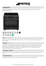 Product informatie SMEG fornuis inductie antraciet CG90IANT9