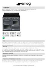 Product informatie SMEG fornuis inductie lei grijs TR4110IGR