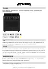 Product informatie SMEG fornuis inductie volledig antraciet C91IEA9