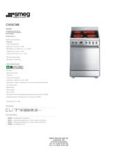 Product informatie SMEG fornuis keramisch CX68CM8