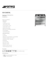 Product informatie SMEG fornuis rvs B91GMXNL