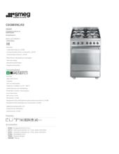 Product informatie SMEG fornuis rvs C6GMXNLK8