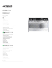 Product informatie SMEG fornuis rvs CS150NLK