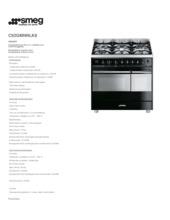 Product informatie SMEG fornuis zwart C92GMNNLK8