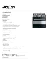 Product informatie SMEG fornuis zwart C9GMNNL1