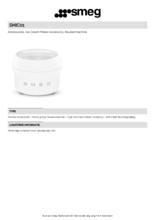 Product informatie SMEG ijsmachine SMIC01