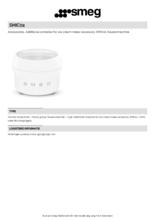 Product informatie SMEG ijsmachine SMIC02