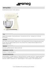 Product informatie SMEG keukenmachine SMF03CREU