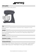Product informatie SMEG keukenmachine SMF03GREU