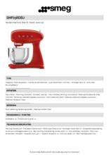 Product informatie SMEG keukenmachine rood SMF03RDEU