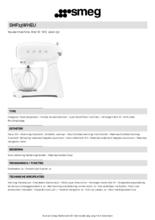 Product informatie SMEG keukenmachine volledig wit SMF13WHEU