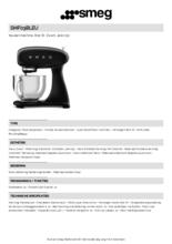 Product informatie SMEG keukenmachine zwart SMF03BLEU