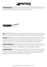 Product informatie SMEG koekenpan mat-zwart CKFF2401BLM