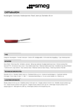 Product informatie SMEG koekenpan rood CKFF2601RDM