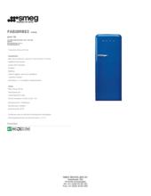 Product informatie SMEG koelkast blauw FAB28RBE3