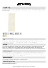 Product informatie SMEG koelkast creme FAB38LCR5