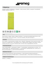 Product informatie SMEG koelkast lime groen FAB30RLI5