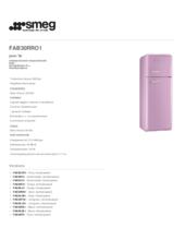 Product informatie SMEG koelkast oranje FAB30RO1