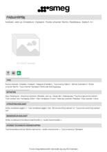 Product informatie SMEG koelkast tafelmodel pastelblauw FAB10HRPB5