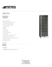 Product informatie SMEG koelkast wijn SCV115/1
