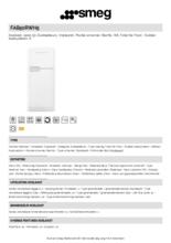Product informatie SMEG koelkast wit FAB50RWH5