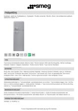 Product informatie SMEG koelkast zilver metallic FAB30RSV5