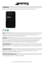 Product informatie SMEG koelkast zwart FAB5RBL5