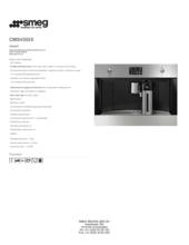 Product informatie SMEG koffiemachine inbouw CMS4303X
