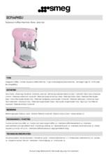 Product informatie SMEG koffiemachine roze ECF01PKEU