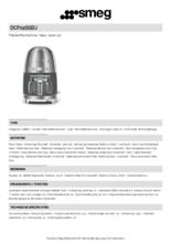 Product informatie SMEG koffiemachine rvs DCF02SSEU