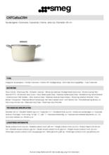 Product informatie SMEG kookpan crème CKFC2611CRM