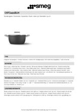 Product informatie SMEG kookpan mat-zwart CKFC2411BLM