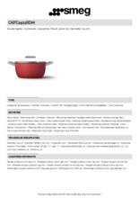 Product informatie SMEG kookpan rood CKFC2411RDM
