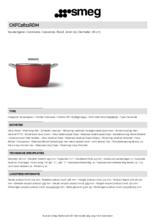Product informatie SMEG kookpan rood CKFC2611RDM