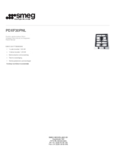 Product informatie SMEG kookplaat domino PDXF30PNL