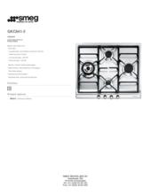 Product informatie SMEG kookplaat inbouw GKC641/3