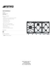 Product informatie SMEG kookplaat inbouw GKC955NLK