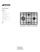 Product informatie SMEG kookplaat inbouw P261XGHNLK