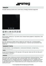 Product informatie SMEG kookplaat inductie inbouw SI264DM