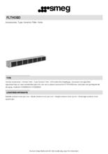 Product informatie SMEG koolstoffilter FLTHOBD