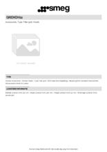 Product informatie SMEG koolstoffilter GRIDKDH12
