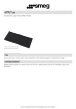 Product informatie SMEG koolstoffilter KITFLT120