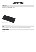 Product informatie SMEG koolstoffilter KITFLT90