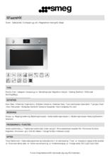Product informatie SMEG magnetron met grill inbouw SF4401MX