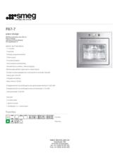 Product informatie SMEG oven inbouw F67/7