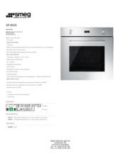 Product informatie SMEG oven inbouw SF485X