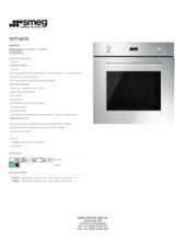 Product informatie SMEG oven inbouw SFP485X