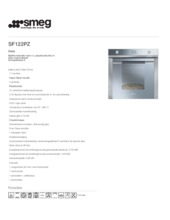 Product informatie SMEG oven inbouw rvs SF122PZ