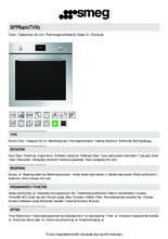 Product informatie SMEG oven inbouw rvs SFP6401TVX1